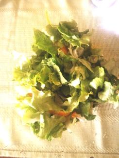 lattuga, gentile e carote